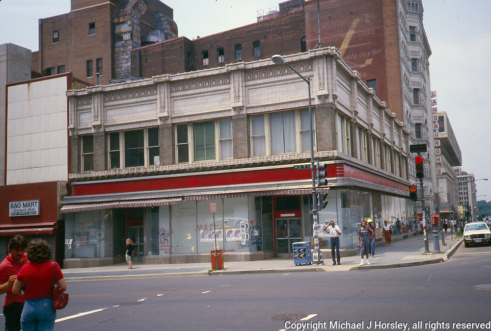 7th and E Street NW Washington DC, 1988