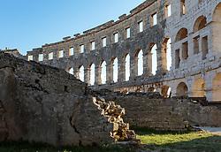 THEMENBILD - das römische Amphitheater in der Abendsonne, aufgenommen am 27. Juni 2018 in Pula, Kroatien // the Roman amphitheater in the evening sun, Pula, Croatia on 2018/06/27. EXPA Pictures © 2018, PhotoCredit: EXPA/ Stefanie Oberhauser