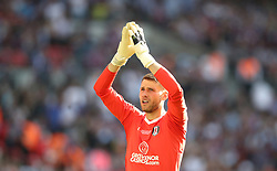 Fulham goalkeeper Marcus Bettinelli reacts during the Sky Bet Championship Final at Wembley Stadium, London