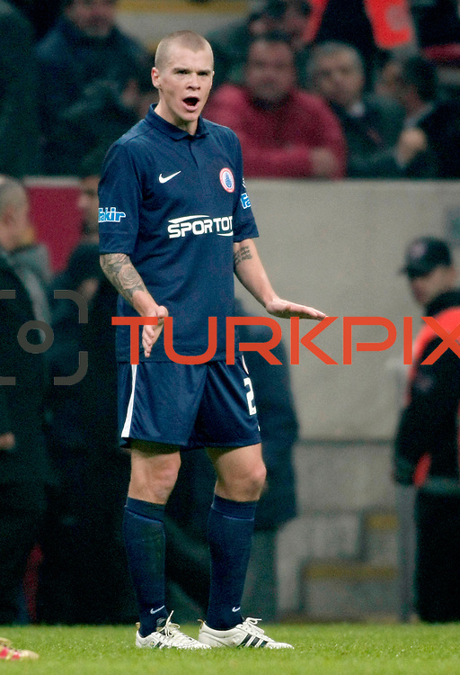 IBBSpor's Samuel Holmen during their Turkish Super League soccer match Galatasaray between IBBSpor at the TT Arena at Seyrantepe in Istanbul Turkey on Tuesday, 03 January 2012. Photo by TURKPIX