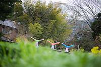Heeki Park, Tamaki Mieno, Hiromi Ishikawa at Yufuin, Oita - Japan