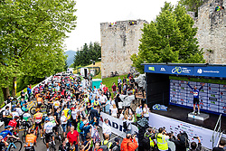 Tadej POGACAR of UAE TEAM EMIRATES in blue jersey at trophy ceremony after 2nd Stage of 27th Tour of Slovenia 2021 cycling race between Zalec and Celje (147 km), on June 10, 2021 in Slovenia. Photo by Matic Klansek Velej / Sportida