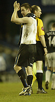 Photo: Aidan Ellis.<br /> Sheffield Wednesday v Manchester City. The FA Cup. 07/01/2007.<br /> Wednesday's goal scorer Steve McLean applauds the fans at the end