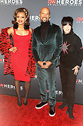 December 17, 2017-New York, NY-United States: (L-R) Recording Artist Andra Day, Recording Artist/Actor Common and Songwriter Diane Warren attend the 11th Annual CNN Heroes All-Star Tribute held at the American Museum of Natural History on December 18, 2017 in New York City. The All-Star Tribute ceremony honors everyday people changing the world. Terrence Jennings/terrencejennings.com