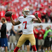 San Francisco 49ers quarterback Colin Kaepernick (7) is seen during an NFL football game between the San Francisco 49ers  and the Tampa Bay Buccaneers on Sunday, December 15, 2013 at Raymond James Stadium in Tampa, Florida.. (Photo/Alex Menendez)