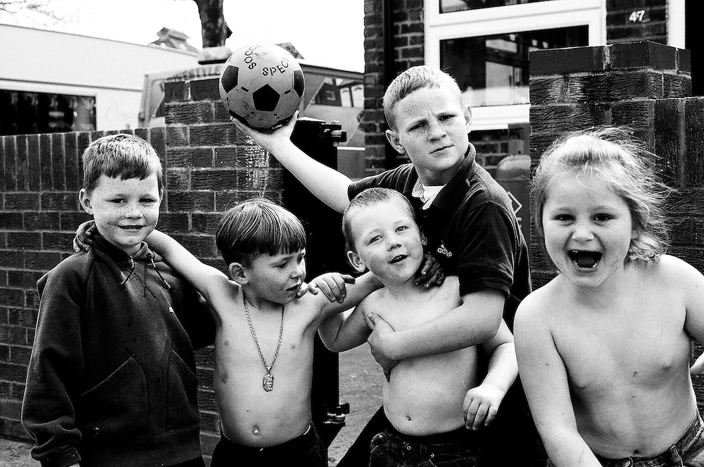 Irish Traveller children living on the South Bermondsey Council-owned Travellers' site, London.