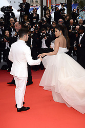 May 18, 2019 - WORLD RIGHTS.Cannes, France, 18.05.2019, 72th Cannes Film Festival in Cannes. The 72th edition of the film festival will run from May 14 to May 25. .Red carpet ''Les Plus Belles Annees D'Une Vie''.NZ. Priyanka Chopra, Nick Jonas.Fot. Radoslaw Nawrocki/FORUM (FRANCE - Tags: ENTERTAINMENT; RED CARPET) (Credit Image: © FORUM via ZUMA Press)