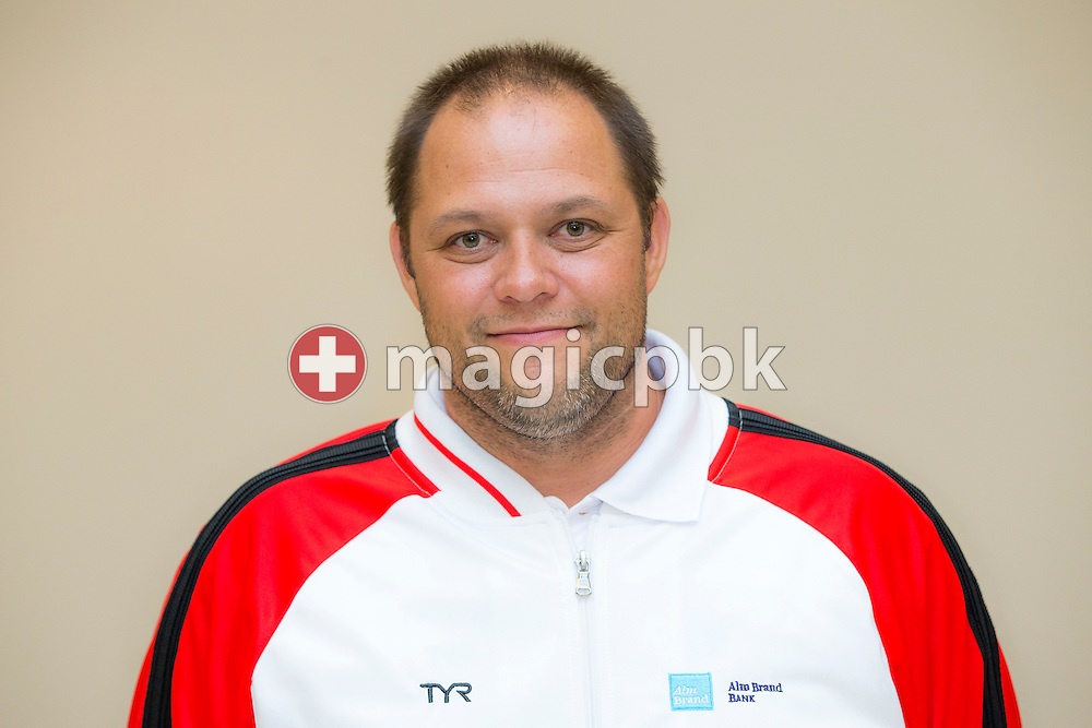 Denmark's team coordinator Martin Karup of Denmark poses for a photo after the LEN European Swimming Championships at Europa-Sportpark in Berlin, Germany, Sunday, Aug. 24, 2014. (Photo by Patrick B. Kraemer / MAGICPBK)
