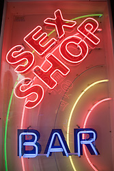 Neon sign for a Sex shop in Las Palmas; Canaries,