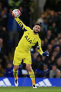 goalkeeper Hugo LLoris of Tottenham Hotspur in action. Barclays Premier league match, Chelsea v Tottenham Hotspur at Stamford Bridge in London on Monday 2nd May 2016.<br /> pic by Andrew Orchard, Andrew Orchard sports photography.