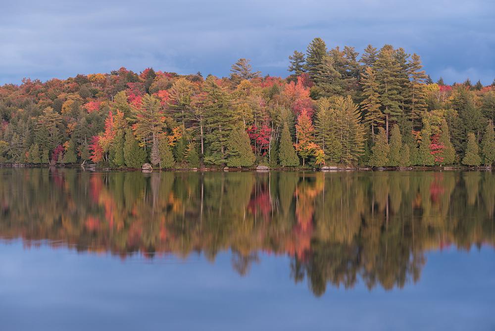 Sunset on Long Pond, St. Regis Canoe Area, Adirondack State Park, New York.