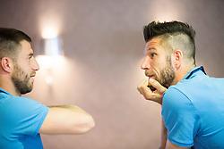 Bojan Jokic and Bostjan Cesar at Slovenia team gathering before friendly football match against National teams of Sweden and Turkey, on May 23, 2016 in Hotel Kokra, Brdo pri Kranju, Slovenia. Photo by Vid Ponikvar / Sportida