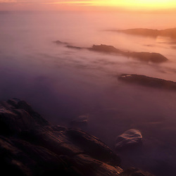 Dawn over the Atlantic Ocean in Odiorne Point State Park, Rye, New Hampshire.