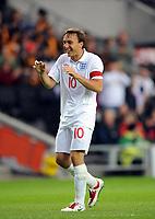 England Under 21's/Azerbaijan Unders 21's International 08.06.09 <br /> Photo: Tim Parker Fotosports International<br /> Mark Noble England celebrates 2nd goal