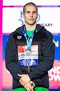 SZABO Szebasztian Hungary HUN Silver Medal<br /> 50 butterfly men Final<br /> Glasgow 07/12/2019<br /> XX LEN European Short Course Swimming Championships 2019<br /> Tollcross International Swimming Centre<br /> Photo  Giorgio Scala / Deepbluemedia / Insidefoto