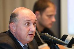 Darijan Kosir, director of Slovenian Government Communication Office at presentation of Eurobasket Slovenia 2013, on September 8, 2011, in Hotel Novotel,  Vilnius, Lithuania.   (Photo by Vid Ponikvar / Sportida)