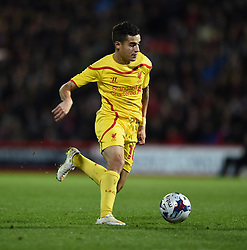 Liverpool's Philippe Coutinho in action against Bournemouth - Photo mandatory by-line: Paul Knight/JMP - Mobile: 07966 386802 - 17/12/2014 - SPORT - Football - Bournemouth - Goldsands Stadium - AFC Bournemouth v Liverpool - Capital One Cup