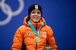 15-02-2018 KOR: Olympic Games day 6, PyeongChang<br /> Huldiging 1000 meter Jorien ter Mors op Medal Plaza PyeongChang