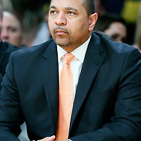 11 April 2014: Golden State Warriors head coach Mark Jackson is seen on the bench during the Golden State Warriors 112-95 victory over the Los Angeles Lakers at the Staples Center, Los Angeles, California, USA.