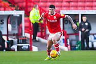 Alex Mowatt of Barnsley (27) in action during the EFL Sky Bet League 1 match between Barnsley and Wycombe Wanderers at Oakwell, Barnsley, England on 16 February 2019.