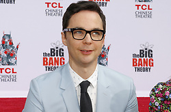 The handprints ceremony for 'The Big Bang Theory' held at the TCL Chinese Theatre IMAX in Hollywood. 01 May 2019 Pictured: Jim Parsons. Photo credit: Lumeimages / MEGA TheMegaAgency.com +1 888 505 6342