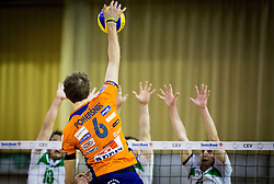 Jan Pokersnik of ACH during volleyball game between OK ACH Volley and OK Panvita Pomgrad in 1st final match of Slovenian National Championship 2013/14, on April 6, 2014 in Arena Tivoli, Ljubljana, Slovenia. Photo by Vid Ponikvar / Sportida