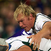Schalk Burger, South Africa, in action during the South Africa V Samoa, Pool D match during the IRB Rugby World Cup tournament. North Harbour Stadium, Auckland, New Zealand, 30th September 2011. Photo Tim Clayton...