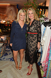 Left to right, OLIVIA PERRY and SANDY MACDONALD-HALL at the launch of AYA jewellery by Chelsy Davy held at Baar & Bass, 336 Kings Road, London on 21st June 2016.