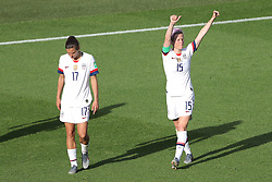 USA's Megan Rapinoe (right) celebrates scoring her side's second goal of the game with team-mates