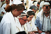 A bar mitzvah celebration at the wailing wall in Jerusalem