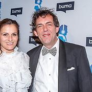 NLD/Hilversum/20150217 - Inloop Buma Awards 2015, Han Kooreneef en partner Georgette