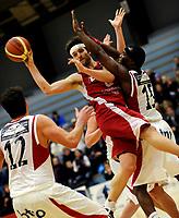 Basket<br /> BLNO<br /> 02.02.2010<br /> Ulriken Elite - Gimle<br /> Haukelandshallen<br /> Ivan Djerman (L) og Peter Bullock , Gimle<br /> Paul Hafford (M) , Ulriken <br /> Foto : Astrid M. Nordhaug