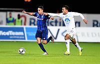 Fotball , 27. september 2015 ,   Eliteserien , Tippeligaen <br /> Stabæk - Molde<br /> Harmeet Singh  , Molde<br /> Yassine El Ghanassy , Stabæk