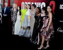(L to R) Gary Ross, Cate Blanchett, Awkwafina, Sarah Paulson, Anne Hathaway, Sandra Bullock, Mindy Kaling, Helena Bonham-Carter and Rihanna the World Premiere of Ocean's 8 at Alice Tully Hall at Lincoln Center in New York City, NY, USA on June 5, 2018. Photo by Dennis van Tine/ABACAPRESS.COM