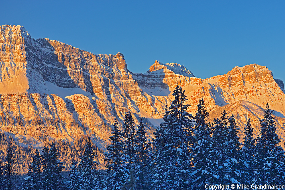 The Waputik Range in the Canadian Rocky Mountains, Banff National Park, Alberta, Canada