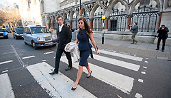 Imogen Thomas arrives at the High Court, London, with her barrister David Price QC, Thursday December 15, 2011. Pic by Gavin Rodgers/ i-Images