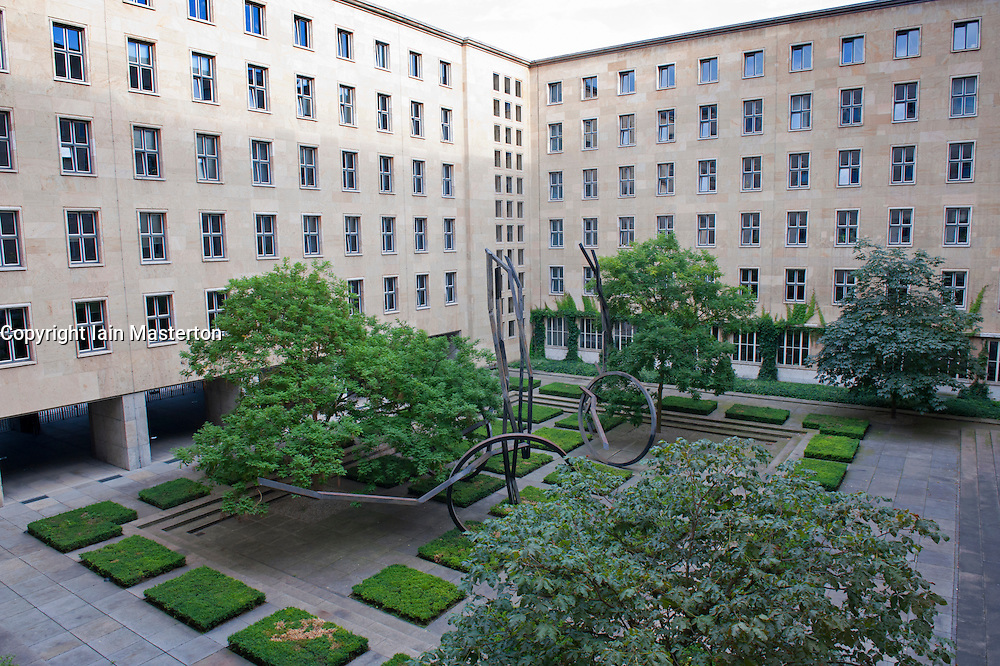 Interior courtyard of historic Finance Ministry or Bundesministerium der Finanzen in Mitte Berlin Germany