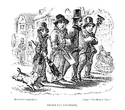 Frozen Out Gardeners by Alfred Crowquill [Alfred Henry Forrester (10 September 1804 – 26 May 1872) was an English author, comics artist,[1] illustrator and artist], From the book English caricaturists and graphic humourists of the nineteenth century : how they illustrated and interpreted their times by Everitt, Graham, author. Published in London in 1886