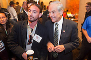 """Dec. 5, 2009 -- TEMPE, AZ: Rep. RON PAUL (R-TX) poses for photos with supporters at the Arizona Campaign for Liberty Convention in the Memorial Union building in Tempe, AZ, Saturday. Rep. Paul is in the Phoenix, AZ, area over the weekend making speeches and signing his book, """"End the Fed."""" Saturday morning he spoke at the first annual """"Arizona Campaign for Liberty Convention."""" Most of the attendees supported Rep. Paul during his run for the Republican nomination for US President in 2008.   Photo by Jack Kurtz"""