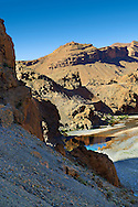 The river Ziz cutting its way through a Gorge in the Atlas Mountains near the Legionaires Tunnel, Morocco .<br /> <br /> Visit our MOROCCO HISTORIC PLAXES PHOTO COLLECTIONS for more   photos  to download or buy as prints https://funkystock.photoshelter.com/gallery-collection/Morocco-Pictures-Photos-and-Images/C0000ds6t1_cvhPo