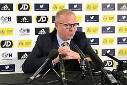 Scotland manager Alex McLeish during a squad announcement press conference at Hampden Park, Glasgow.
