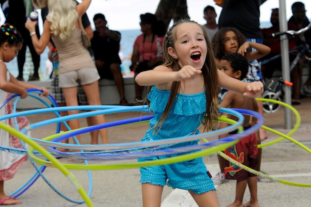 Great American Beach Party 2012 girl hula hoops