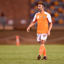 BRISBANE, AUSTRALIA - JANUARY 23: Fahid Ben Khalfallah of the Roar during the AFC Champions League Second Preliminary Round match between Brisbane Roar and Ceres Negros FC on January 23, 2017 in Brisbane, Australia. (Photo by Patrick Kearney)