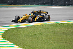 November 10, 2017 - Sao Paulo, Sao Paulo, Brazil - 55 CARLOS SAINZ (GBR) of Renault Sport F1 Team, drives during the free training day for the Formula One Grand Prix of Brazil at Interlagos circuit, in Sao Paulo, Brazil. The grand prix will be celebrated next Sunday, November 12. (Credit Image: © Paulo Lopes via ZUMA Wire)