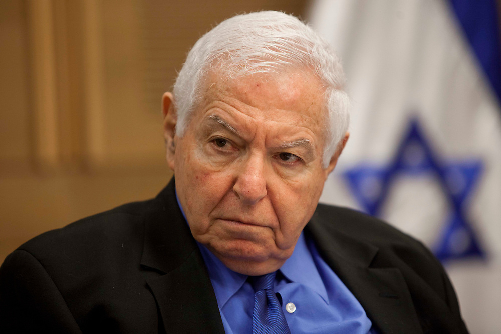 Israel's State Comptroller Micha Lindenstrauss attends a session of the State Control Committee at the Knesset, Israel's parliament in Jerusalem, on January 10, 2012.