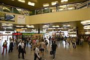 Europe, Slovakia, capitol city - Bratislava main train station. Hlavna Stanica..