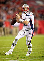 Tom Brady during a NFL game between the New England Patriots and the Tampa Bay Buccaneers at Raymond James Stadium , in Tampa Bay ,FL on 10.15.17.<br /> ( Photo/Tom DiPace)