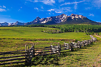 Last Dollar Ranch (Sneffels Range in back), near RIdgway, Colorado USA