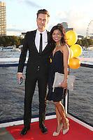 Carl Ryden, Karen David, Raindance China Boat Party, Victoria Embankment, London UK, 22 September 2016, Photo by Richard Goldschmidt
