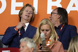 (L-R) Feyenoord general director Jan de Jong, coordinator of the KNVB press office Chris van Nijnatten during the International friendly match match between The Netherlands and Peru at the Johan Cruijff Arena on September 06, 2018 in Amsterdam, The Netherlands